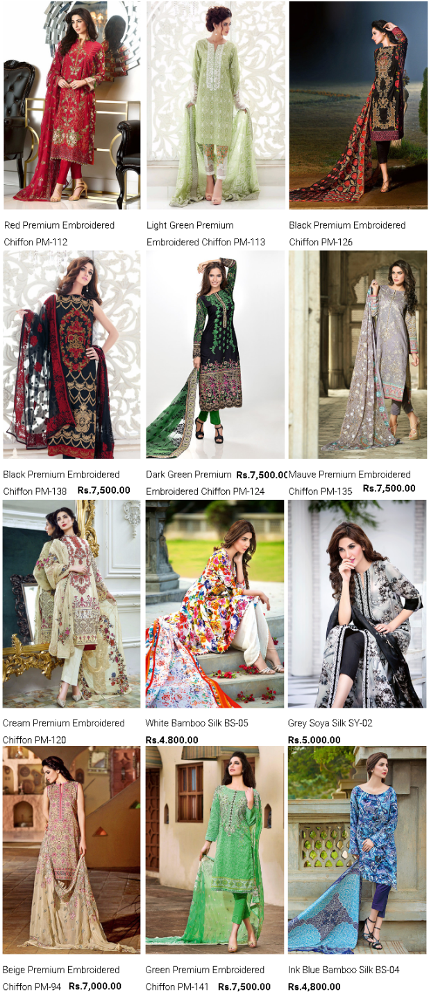 Gul Ahmed Summer Arrivals Ladies Unstitched Fabric Dresses 2016 Price In Pakistan Images