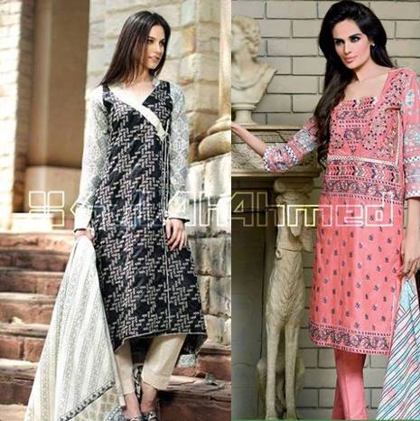 Latest Summer Dresses Collection By Gul Ahmed Fashionable Designs Sale and Promotions