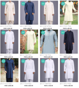 Latest Kameez Shalwar and Kurta Dresses Collections By J. Junaid Jamshed For Men
