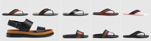 Sandals and Monk Straps By Gucci Mens Summer Shoes Collections with Price