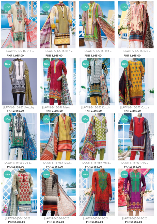 Unstitched and Embellished Suits By Junaid Jamshed J. For Summer Spring Season Upcoming Collections