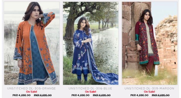 Ladies Unstitched Line and Embroidered Maria B Arrivals Summer Collections Images Price