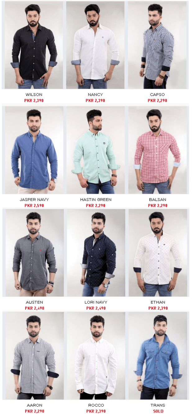 Summer Shirts and Denims By Stoneage Mens Dresses Collections 2016 Price & Colors