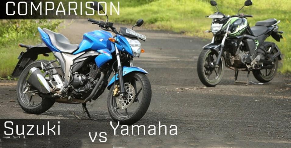 Motorbike Comparison: Suzuki New Bikes 2016 VS Yamaha Motorcycle New Models in Pakistan Feature Specs Price