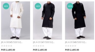 Junaid Jamshed Gents Heavy Embellished Special Kurta J. For Winter Arrival Price