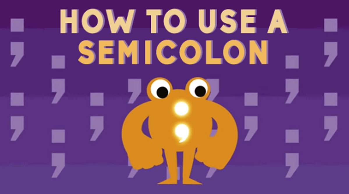 How do I use semicolons?