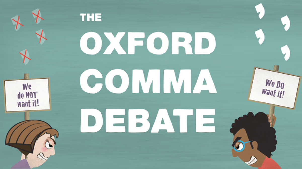 Commas : in lists…