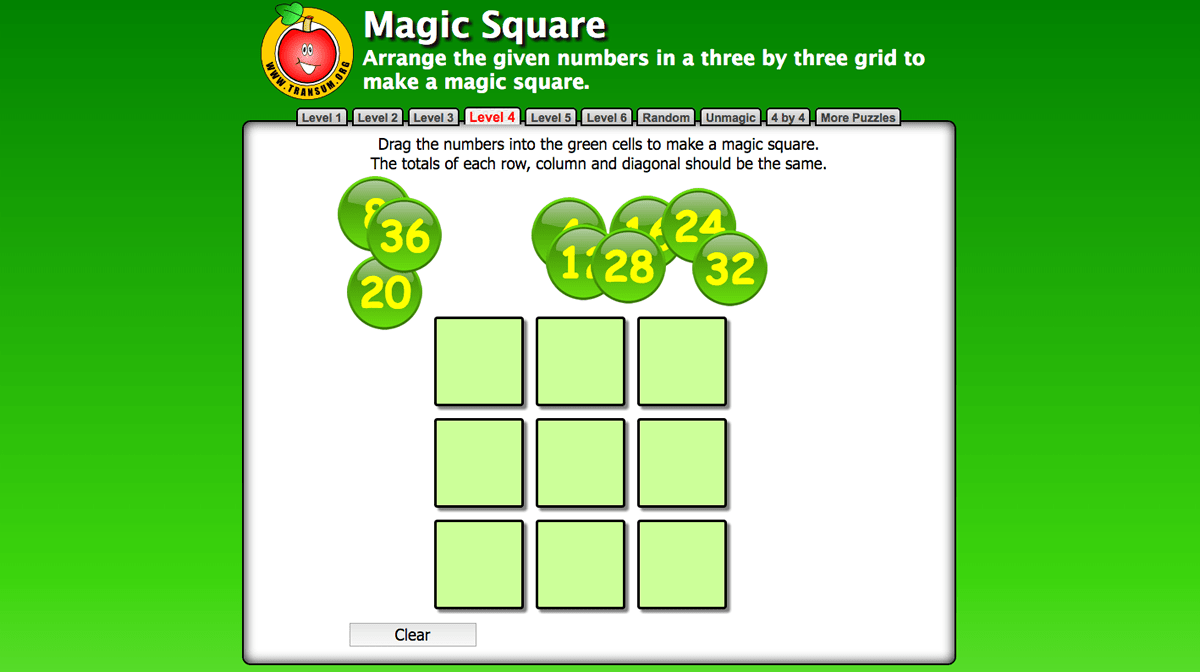 Mental Maths : Magic Square