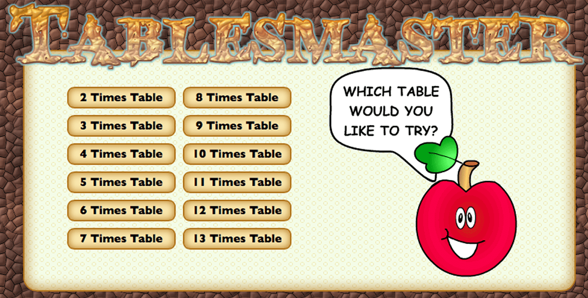 Times Tables : Tables Master