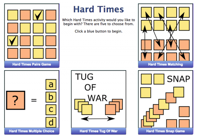 Hard Times : Times Tables Practice