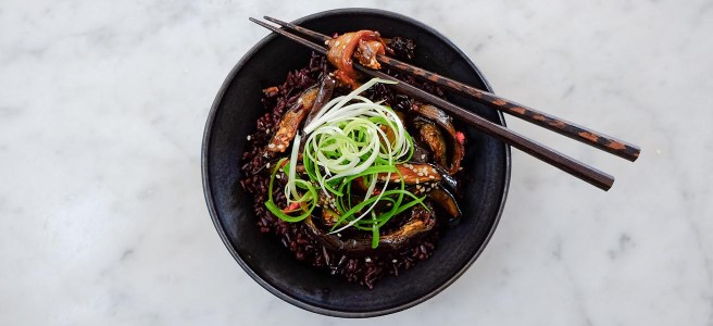 Sticky Aubergine Rice