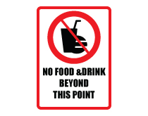 No food drink beyond point icon sign thumb