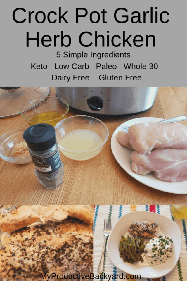 Crock Pot Garlic Herb Chicken