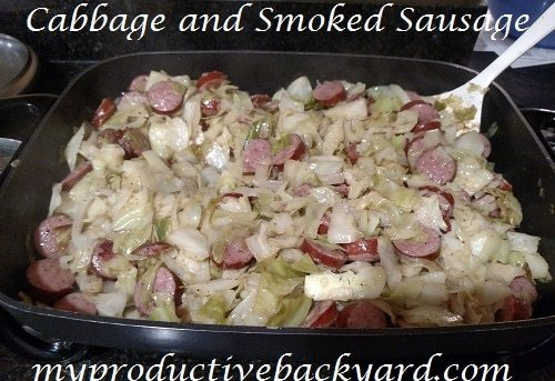 Cabbage and Smoked Sausage