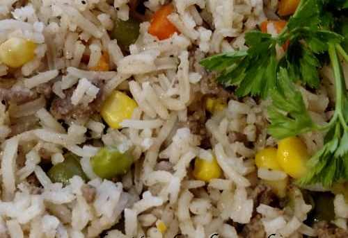 Colorful Hamburger Rice