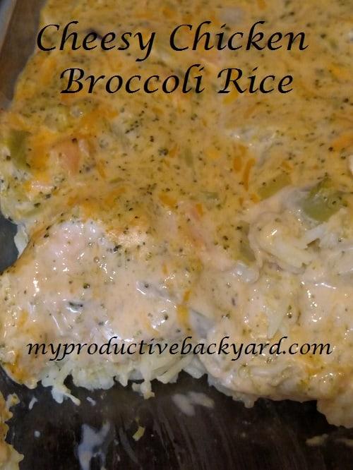 Cheesy Chicken Broccoli Rice