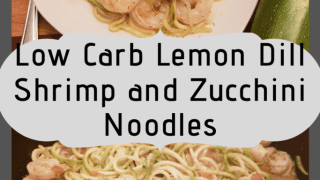 Lemon Dill Shrimp and Zucchini Noodles