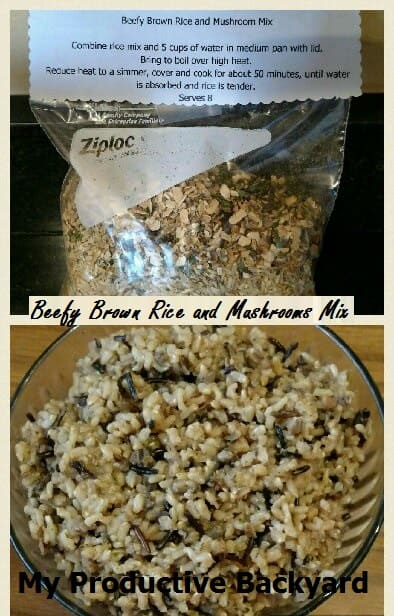 Beefy Rice and Mushroom Mix