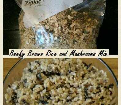Beefy Rice and Mushroom Mix