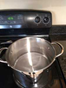 water to boil