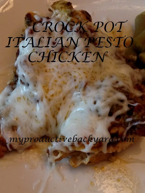 Crock Pot Italian Pesto Chicken