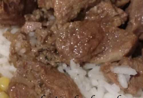 Freezer Crockpot Beef Tips and Gravy