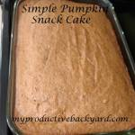 Simple Pumpkin Snack Cake