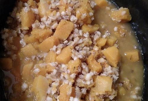 Crock Pot Butternut Squash Barley Risotto