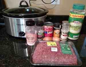 Ingredients for Low Carb Crock Pot Meatballs