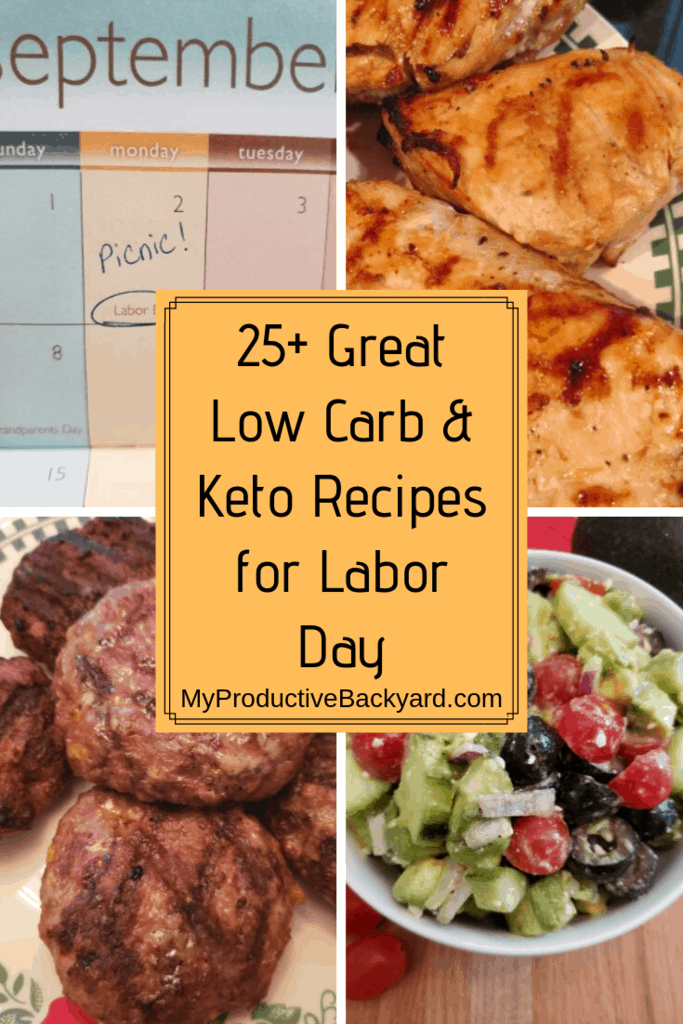 Low carb keto labor day recipes collage