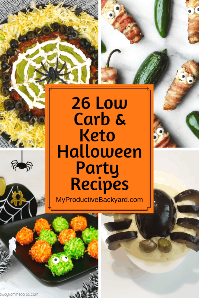Low Carb Keto Halloween Party Recipes collage