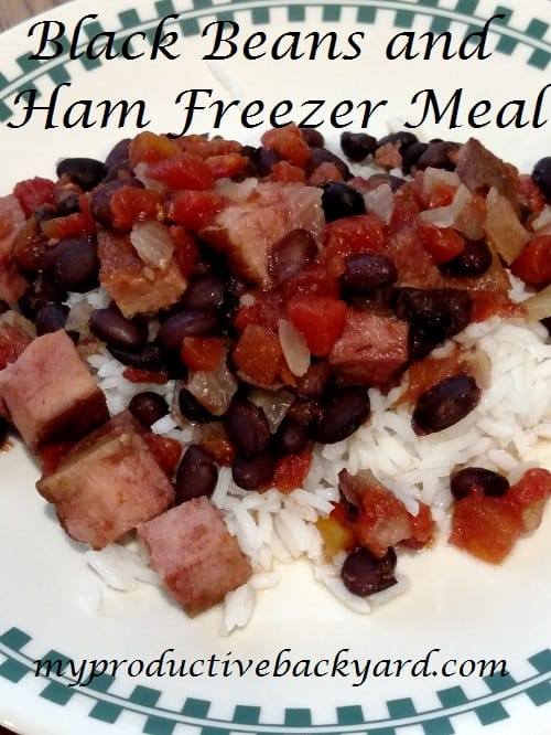 Black Beans and Ham Freezer Meal