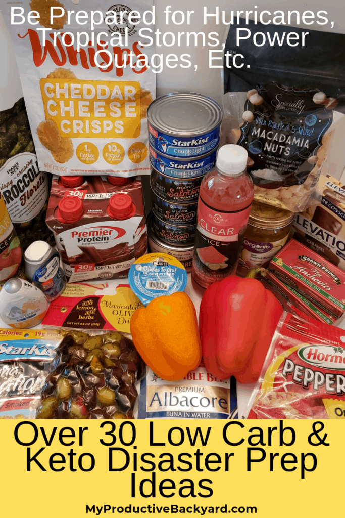 keto low carb disaster prep food pic