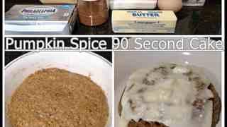 Pumpkin Spice 90 Second Cake
