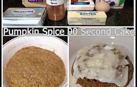 Pumpkin Spice 90 Second Cake