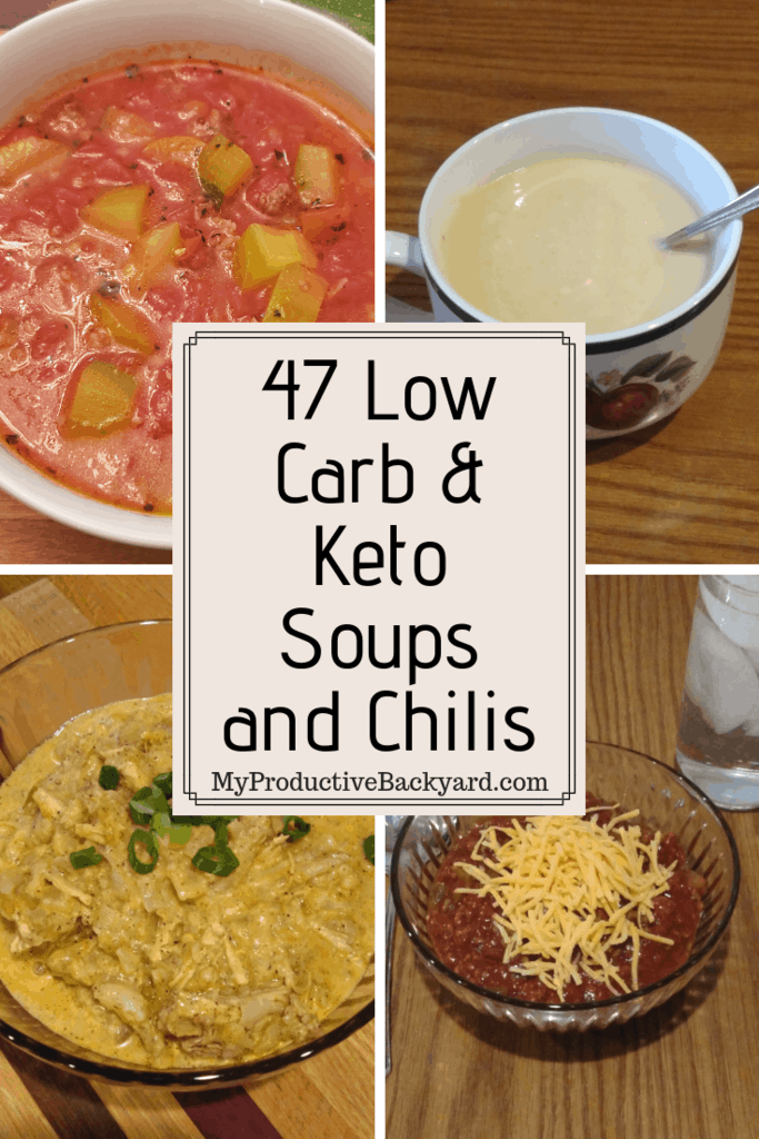 47 Low Carb & Keto Soups and Chilis pinterest pin