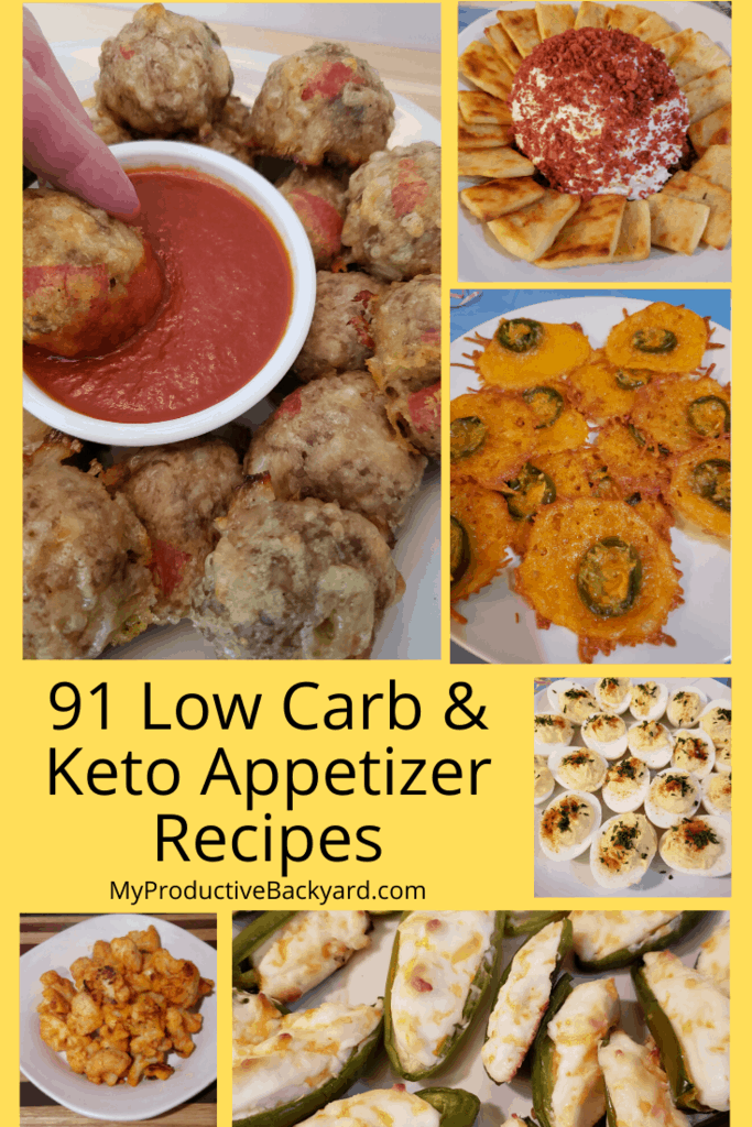 91 Low Carb Keto Appetizer Recipes collage