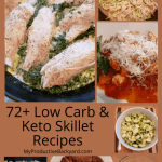 72 Low Carb Keto Skillet Recipes collage