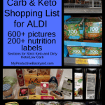 low carb keto shopping list for Aldi