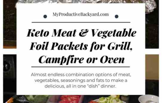 Keto Meat and Vegetable Foil Packets for Grill, Campfire or Oven