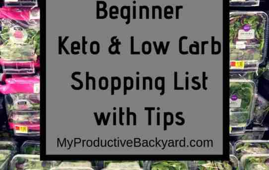 Beginner Keto Low Carb Shopping List with Tips