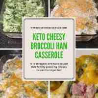 Keto Cheesy Broccoli Ham Casserole