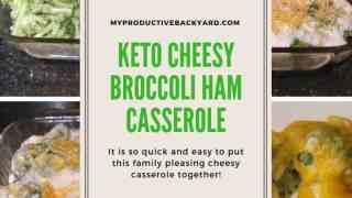Keto Cheesy Broccoli Ham Casserole