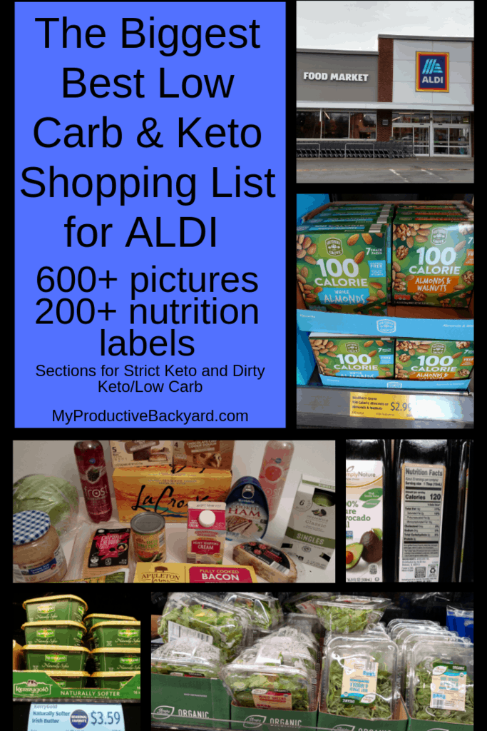 The Biggest Best Low Carb Keto Shopping List for ALDI