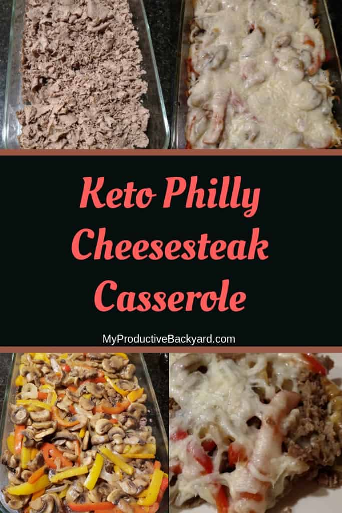 Keto Philly Cheesesteak Casserole