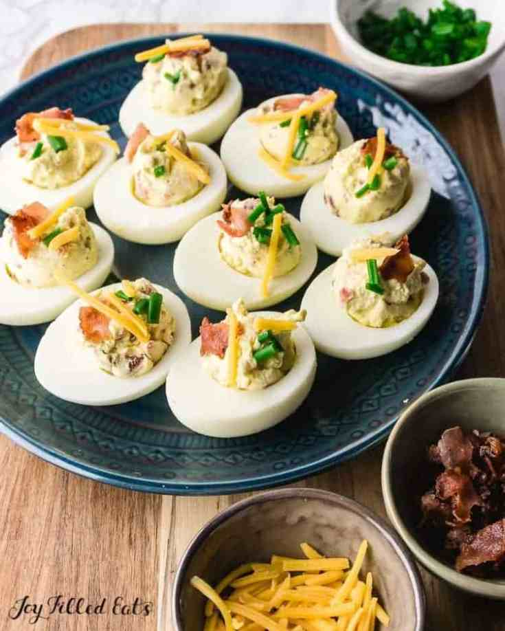 Keto Deviled Eggs with Bacon – Low Carb, Gluten-Free