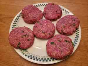 raw Low Carb Jalapeno Cheddar Burgers
