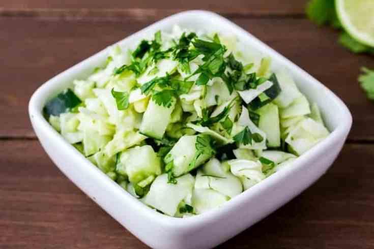 Keto Avocado Cabbage Slaw