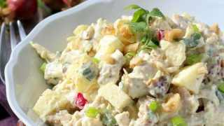 Low Carb Chicken Salad Recipe with Curry