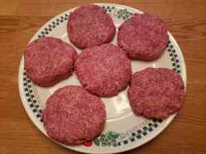 Low Carb BBQ Cheddar Burgers raw